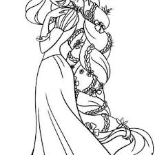 Small Picture Disney Princess Coloring Pages Rapunzel Latest Images About On