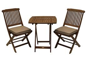 wooden patio furniture sets. Outdoor Interiors Eucalyptus 3-Piece Square Bistro Furniture Set Wooden Patio Sets R