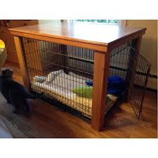 wooden dog crate furniture. Wooden Table Dog Crate Cover | Malm Woodturnings Furniture