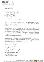 file wikimania manila endorsement letter tourism promotions original