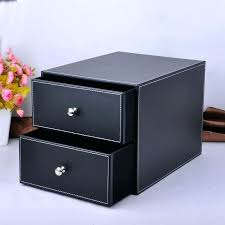 File holder box Document Leather Filing Box Leather File Cabinet Double Layer Double Drawer Wood Leather Desk Set Filing Cabinet Storage Box Office Leather File Cabinet Storage Randellludwigclub Leather Filing Box Leather File Cabinet Double Layer Double Drawer