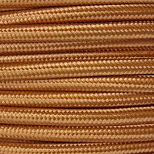 fabric lighting cable 3 core. Copper Fabric Lighting Cable Braided. Round 3 Core Flex 0