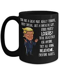 amazon trump pilot mug gifts for pilots gift for men or women birthday gifts for aviators maga funny donald trump mug kitchen dining