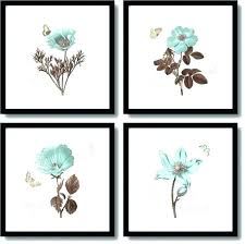 wall art sets set of 4 framed within touch blue black frame 2 canvas ebony  on framed blue wall art set with floral wall art sets outstanding decor appealing cheap canvas set of