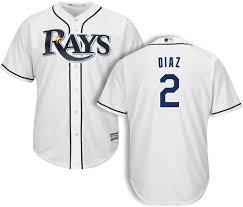 Yandy Size Chart Yandy Diaz Tampa Bay Rays Home Jersey By Majestic