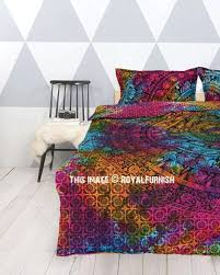 multi tie dye fl hippie elephant mandala duvet cover with set of 2 pillow covers uk tie dye duvet cover nz