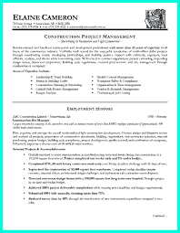 Construction Project Manager Resume For Experienced One Must Be