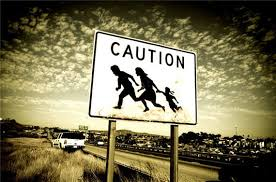 Image result for illegal alien crossing border with baby with