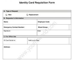 New Employee Id Card Request Form Identity Card Application Format