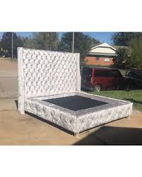 california king bed headboard. Wingback Bed Extra Tall Headboard Upholstered Tufted Silver Velvet Platform Frame California King Queen Full Twin N