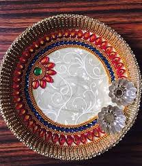 diy pooja thali kundan pinterest diwali decoration and craft