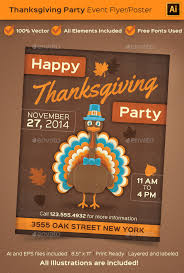 thanksgiving party flyer thanksgiving party event poster or flyer by beyourself graphicriver