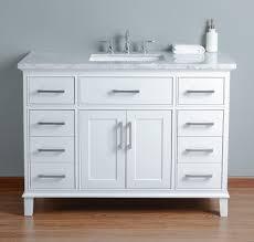 white single sink bathroom vanities. Home/Vanities/Single Vanities. Stufurhome Leigh 48 Inches White Single Sink Bathroom Vanity Vanities