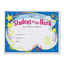 Star Student Certificates Trend T2960 Student Of The Week Certificates 8 1 2 X 11 White Border 30 Pack Tept2960