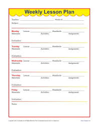Weekly Lesson Plan Templates Weekly Detailed Lesson Plan Template Elementary