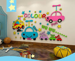 3d cartoon car children s room layout
