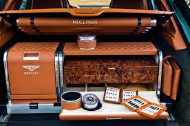 2018 bentley bentayga mulliner. interesting mulliner 2018 bentley bentayga mulliner luxury luggage inside bentley bentayga mulliner
