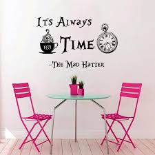 Backwards Clock Alice In Wonderland Decor It39s About Time