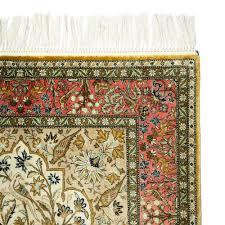 vintage tree of life design silk qum persian rug c 1960 circa 1960