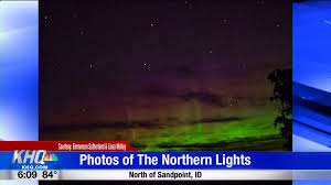Northern Lights Sandpoint Id Viewers Capture Photos Of The Northern Lights