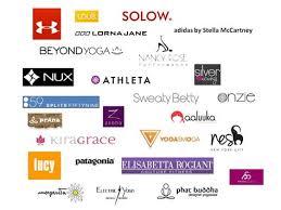 yoga clothing brands logos