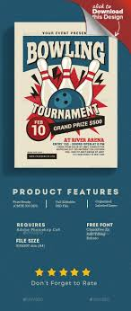 Bowling Event Flyer Ball Bowl Bowling Bowling Alley Bowling Championship