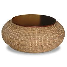 round rattan coffee table design