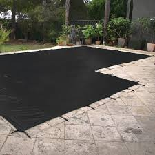 winter pool covers. Daisy WinterKleen - Mesh Winter Pool Leaf And Debris Cover BLACK 8 Years P.r. Warranty Covers
