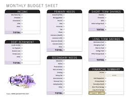 All New Free Printable Budget Forms You Can Edit Queen Of