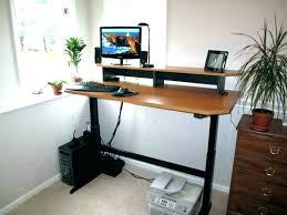 tower computer desk. Desks:Tower Computer Desk Full Adjustable Height Workstation Standing De Tower R