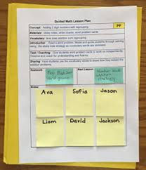 Differentiated Instruction Lesson Plan Template Differentiated Guided Math Instruction