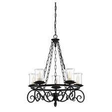 savoy house welch black five light outdoor chandelier