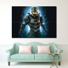 master chief halo block giant wall art