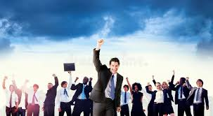 Corporate Celebration Business People Corporate Celebration Success Concept Stock Image
