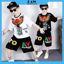 Set Đồ Bé Trai chất cotton mát mịn thấm hút mồ hôi tốt phong cách hàn quốc, thời  trang trẻ em thương hiệu BAW mã 98-99 | Áo bé trai khác