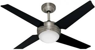 hunter 59072 sonic 52 inch brushed nickel ceiling fan with 4 black maple blades
