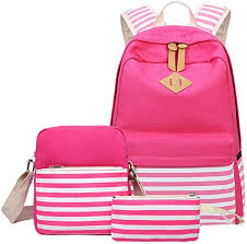 School Backpack Aiduy Student Canvas Bookbag Lightweight ...