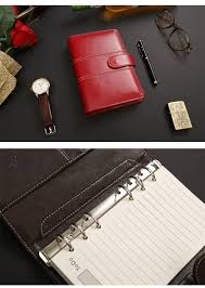 leather spiral notebook travel journal personal macaron diary week planner agenda organizer cute ring stationery binder a5 a6