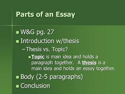Parts of a Paragraph Topic Sentences  Supporting Sentences