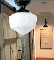 schoolhouse ceiling light fixture semi flush mount