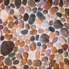 stone floor tile texture. Pebble Stone Floor Tile Texture \u2014 Stock Photo W