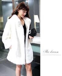 fur faux coats free size winter parka women turn down collar faux fur coat long thicken fur faux coats
