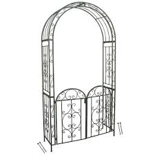 metal garden arch with gate temple