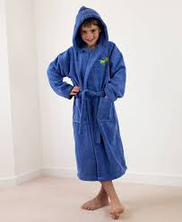 personalised boy s hooded dressing gown