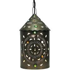 mexican lamps tin lighting collection star