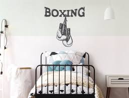 Wandtattoo Boxhandschuhe Mit Schriftzug Jugendzimmer Als Deko I