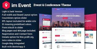 Event Website Template Impressive Event One Page Conference Landing Website Template Responsive