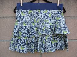 Free People Skirt Size Chart Skirt Free People Short Layered Floral L Blue Green