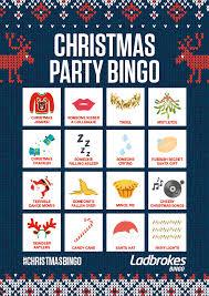Office Bingo Office Christmas Party Bingo