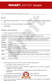 Room Rental Agreement - Tenancy Agreement For Rooms In Shared House
